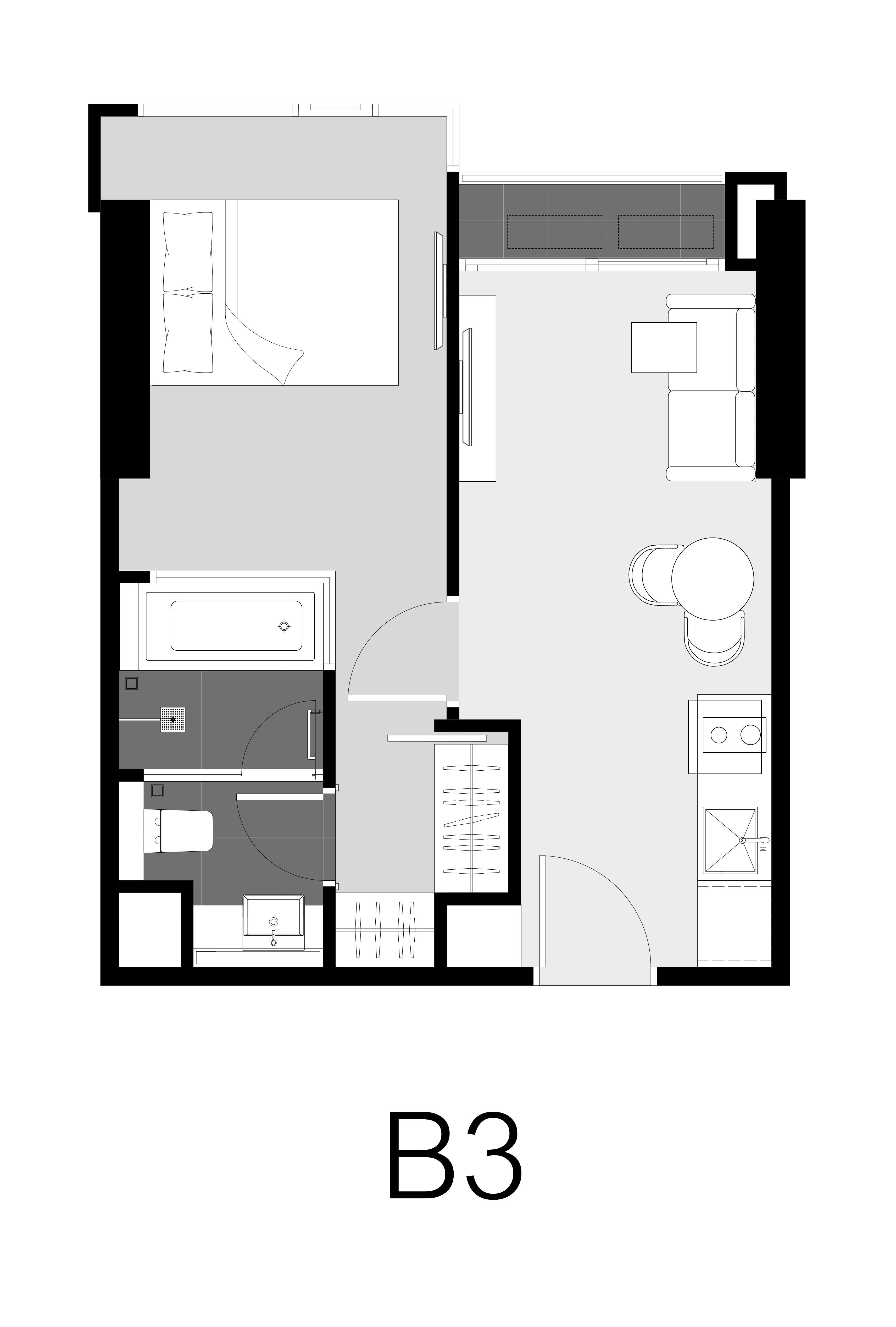 Unit Layout – 1 BED SIMPLEX(32 ตร.ม.) @ Park Origin Thonglor
