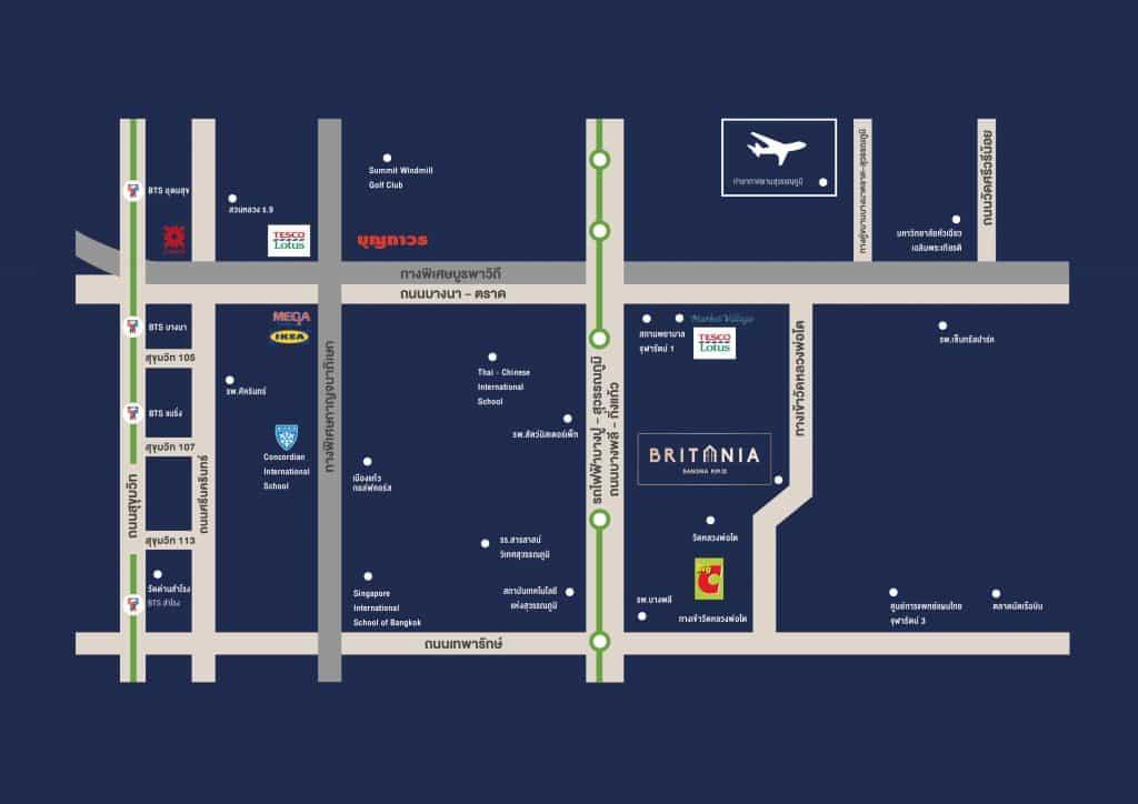 แผนที่ @ โครงการ บริทาเนีย บางนา กม.12
