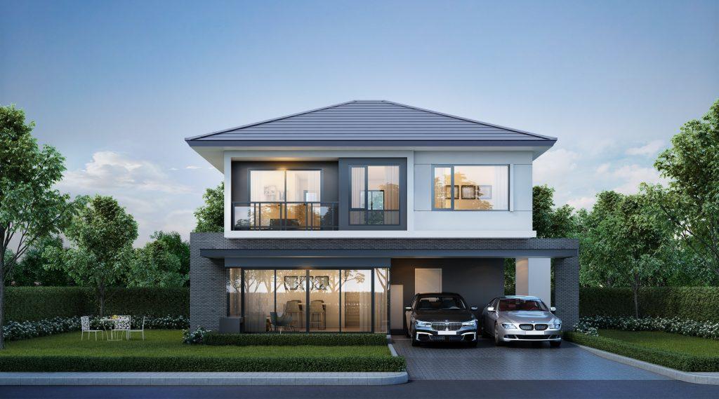 OXFORD บ้านเดี่ยวที่รองรับครอบครัวขนาดใหญ่ 4 ห้องนอน, 3 ห้องน้ำ, 1 ห้องนั่งเล่น, 1 ห้องเอนกประสงค์, 1 ห้องครัวไทย, 1 แพนทรี, 2 ที่จอดรถ
