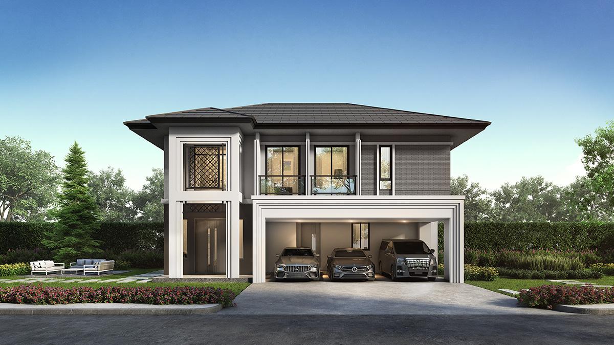 บ้านสองชั้น Earthtone